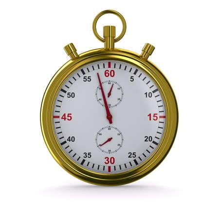 cronometro: Cron�metro sobre fondo blanco. Imagen aislados 3D