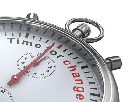 cronometro: Tiempo de cambios. Cron�metro sobre fondo blanco. Imagen aislados 3D Foto de archivo