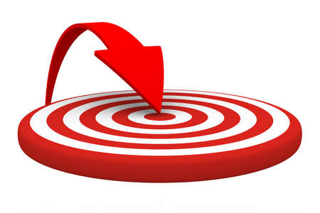 target business: Direcci�n de movimiento para el �xito. Imagen aislados 3D
