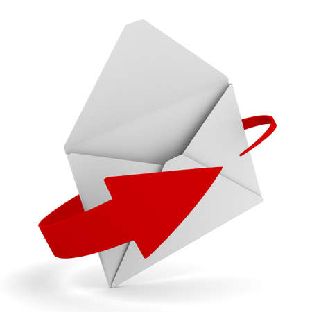E-mail concept on white background. Isolated 3D image Stock Photo - 8709271