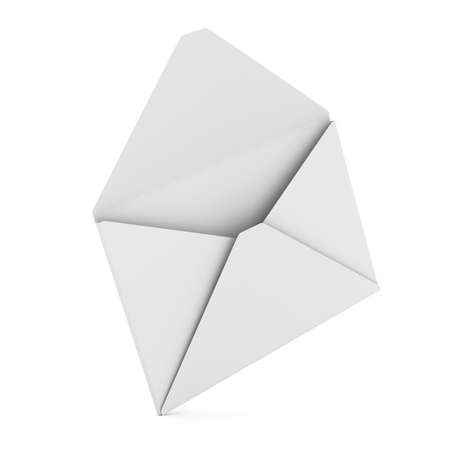 letter envelope: E-mail concept on white background. Isolated 3D image