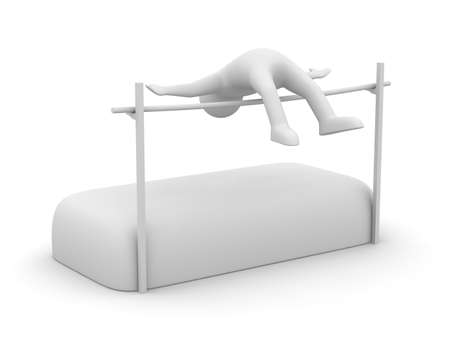 High jumps. Track and field athletics. Isolated 3D image photo