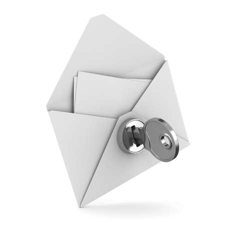 unauthorized: E-mail concept on white background. Isolated 3D image