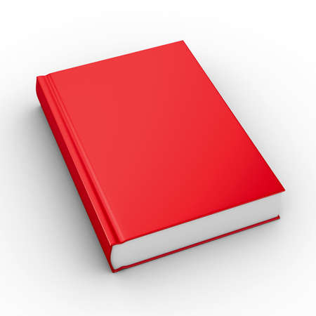 blank book cover: Closed book on white background. Isolated 3D image
