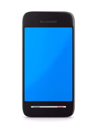 gsm phone: phone on white background. Isolated 3D image