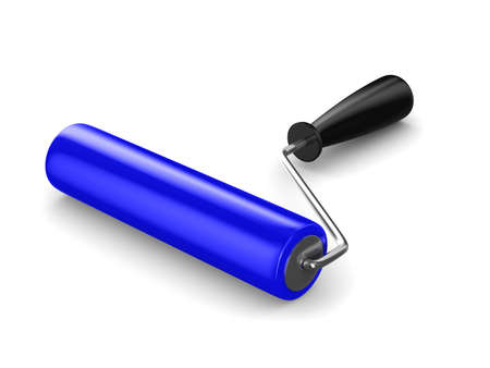 roller brush on white. Isolated 3D image Stock Photo - 8993445