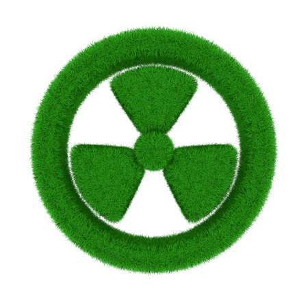 radiation symbol from grass. Isolated 3D image photo