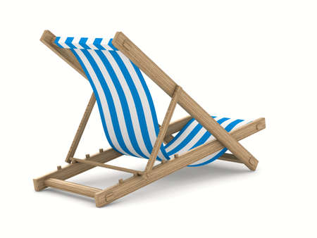 Deckchair on white background. Isolated 3D image Stock Photo - 9203377