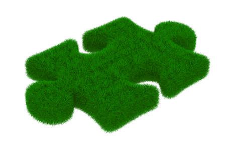 Puzzle on white background. Isolated 3D image Stock Photo - 9273562