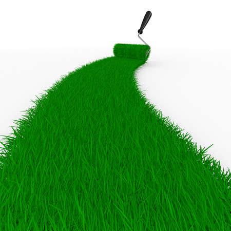 白草からの道。分離の 3 D イメージ 写真素材