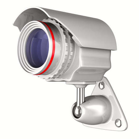 security camera on white background. Isolated 3D image Stock Photo - 9297607