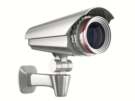 security camera on white background. Isolated 3D image Stock Photo - 9336339