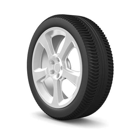 disk wheel on white background. Isolated 3D image Stock Photo - 9373738