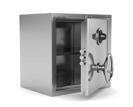 caja fuerte: Seguro sobre fondo blanco. Imagen aislados 3D Foto de archivo