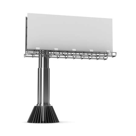 billboard on white background. Isolated 3D image Banque d'images
