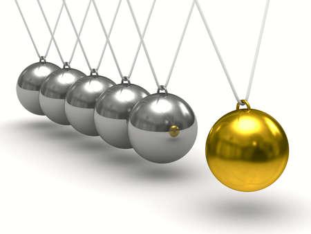 Balancing balls on white background. Isolated 3D image photo