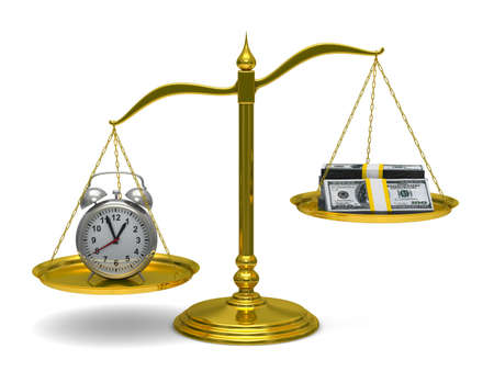 buy time: Time is money. Isolated 3D image
