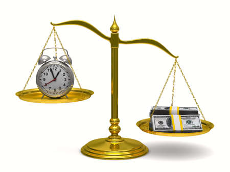 Time is money. Isolated 3D image photo
