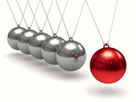 balancing: Balancing balls on white background. Isolated 3D image