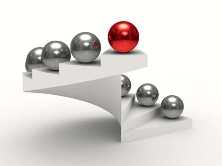白い背景の上リーダーシップの概念。分離の 3 D イメージ 写真素材