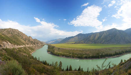 katun: Altay mountains. river Katun. Russia Stock Photo