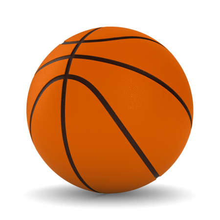 Basketball ball on white background. Isolated 3D image photo