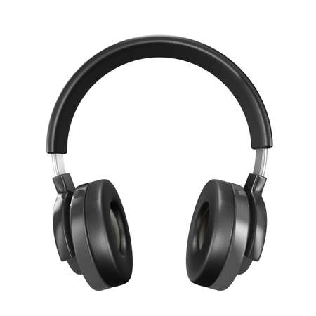 head phones: Headphone on white background. Isolated 3D image