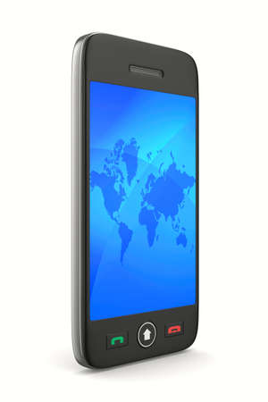 gprs: phone on white background. Isolated 3D image