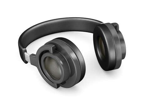 Headphone on white background. Isolated 3D image photo