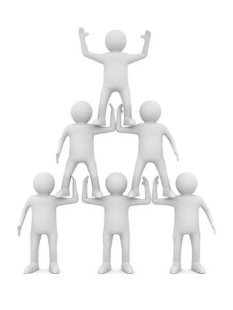 Conceptual image of teamwork. Isolated 3D on white photo