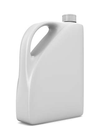 oil bottle on white background. Isolated 3D image photo