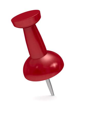 Punaise rouge sur fond blanc. Isolated 3D image Banque d'images - 11214539
