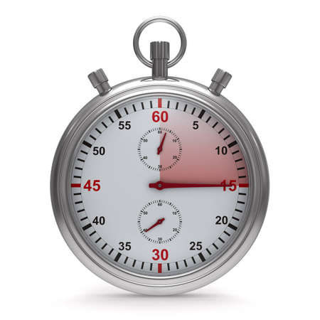 Chronomètre sur fond blanc. Isolated 3D image Banque d'images - 11371551