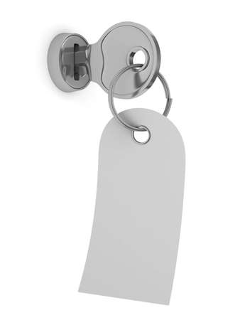 Clé isolée sur fond blanc. L'image 3D Banque d'images - 11741039
