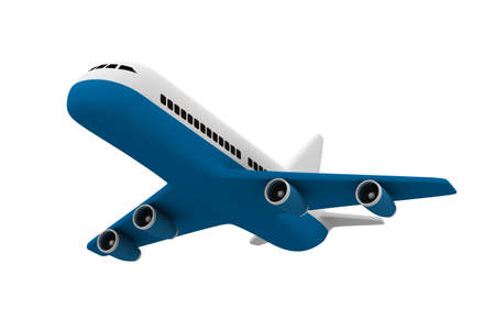 airplane on white background. Isolated 3D image
