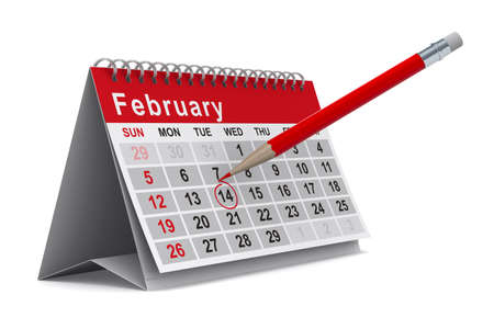 calendar on white background. Isolated 3D image photo
