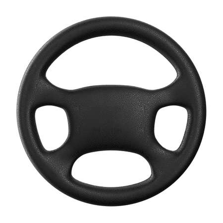 airbag: Steering wheel on white background. Isolated 3D image Stock Photo