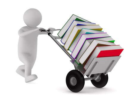 Fermé du livre et des livres sur fond blanc. Isolated 3D image Banque d'images - 12379967