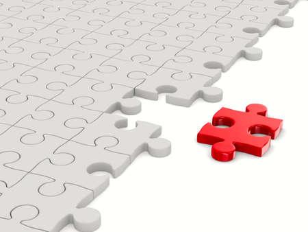 Puzzel op een witte achtergrond. Geà ¯ soleerde 3D beeld Stockfoto - 12379977