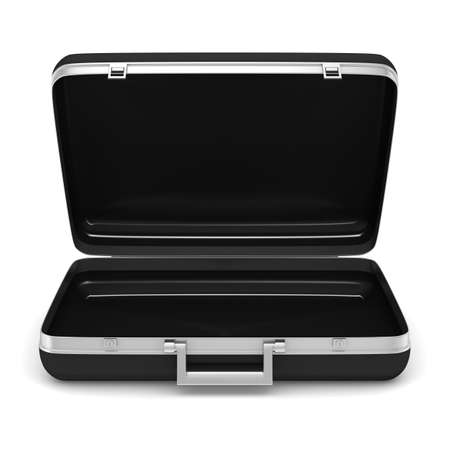 business briefcase: Case on white background  isolated  3D image Stock Photo