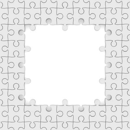 merge: Seamless texture white puzzle. 3D image Stock Photo