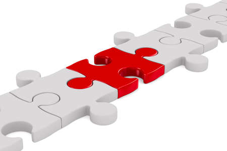 another: Puzzle on white background. Isolated 3D image