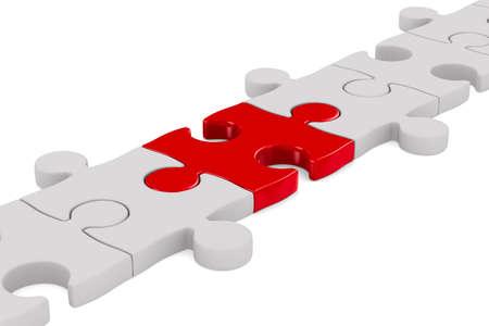 Puzzle on white background. Isolated 3D image