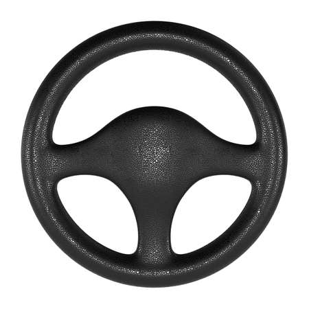 steering wheel: Steering wheel on white background. Isolated 3D image Stock Photo