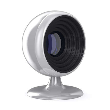 web camera on white background. Isolated 3D image Stock Photo - 12963950