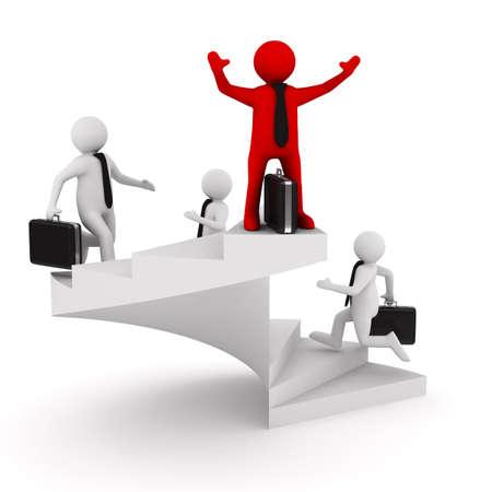 Leiderschap concept op witte achtergrond. Geà ¯ soleerde 3D beeld Stockfoto - 13340891