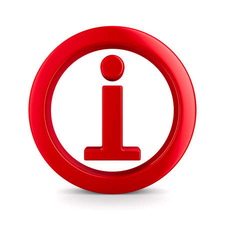 Informations de symbole sur fond blanc. Isolated 3D image Banque d'images - 13596960