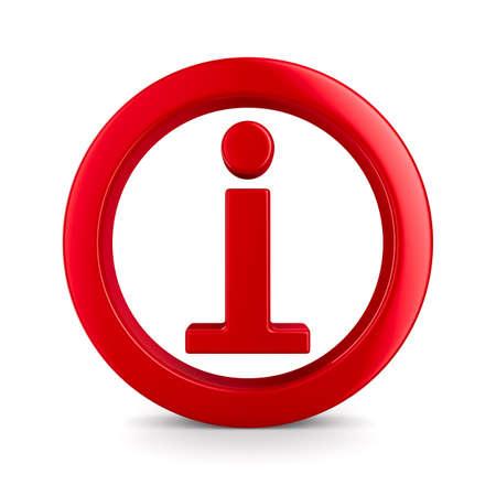 Symbool informatie op een witte achtergrond. Geà ¯ soleerde 3D beeld Stockfoto - 13596960