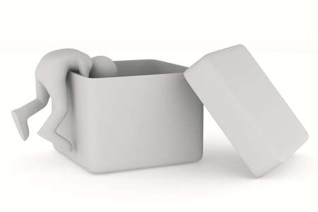 Open box on white background. Isolated 3D image photo