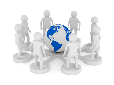Conceptual image of teamwork  Isolated 3D on white Stock Photo - 14066905